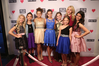 "Young Hollywood raises money for Boston Marathon victims at girls fashion retailer Un Deux Trois in Beverly Hills, May 15, 2013.  Actresses [L-R], Kaylyn Slevin (""Shake It Up!,"" ""Ass Backwards""), Rowan Blanchard (""Spy Kids,"" ""The Back-up Plan""), Rachel Crow (""The X-Factor,"" ""Big Time Rush""), Bailee Madison (""Parental Guidance,"" ""Bridge to Terabithia""),  Taylor Ann Thompson (""Liz & Dick,"" ""The Bucket List""), Jesse Lewin (Un Deux Trois Model), Peyton List (""Diary of a Wimpy Kid,"" ""Jessie""), Rachel Grode (Un Deux Trois Model).  (PRNewsFoto/Taylor Ann Thompson)"