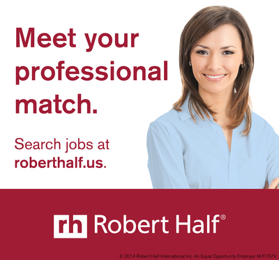 New Robert Half/FEI finance-function report: www.roberthalf.us/benchmarking