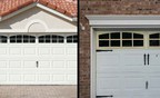 Lacks Home Products' premium garage door enhancements (left) come with a 15-year warranty. The similar Home Depot product (right) allegedly deteriorates in as little as six months.