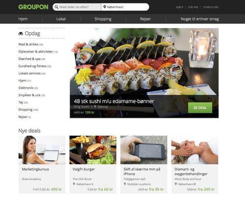 Groupon Danmark renoverer hjemmesiden for at skabe en aegte online markedsplads (PRNewsFoto/Groupon)