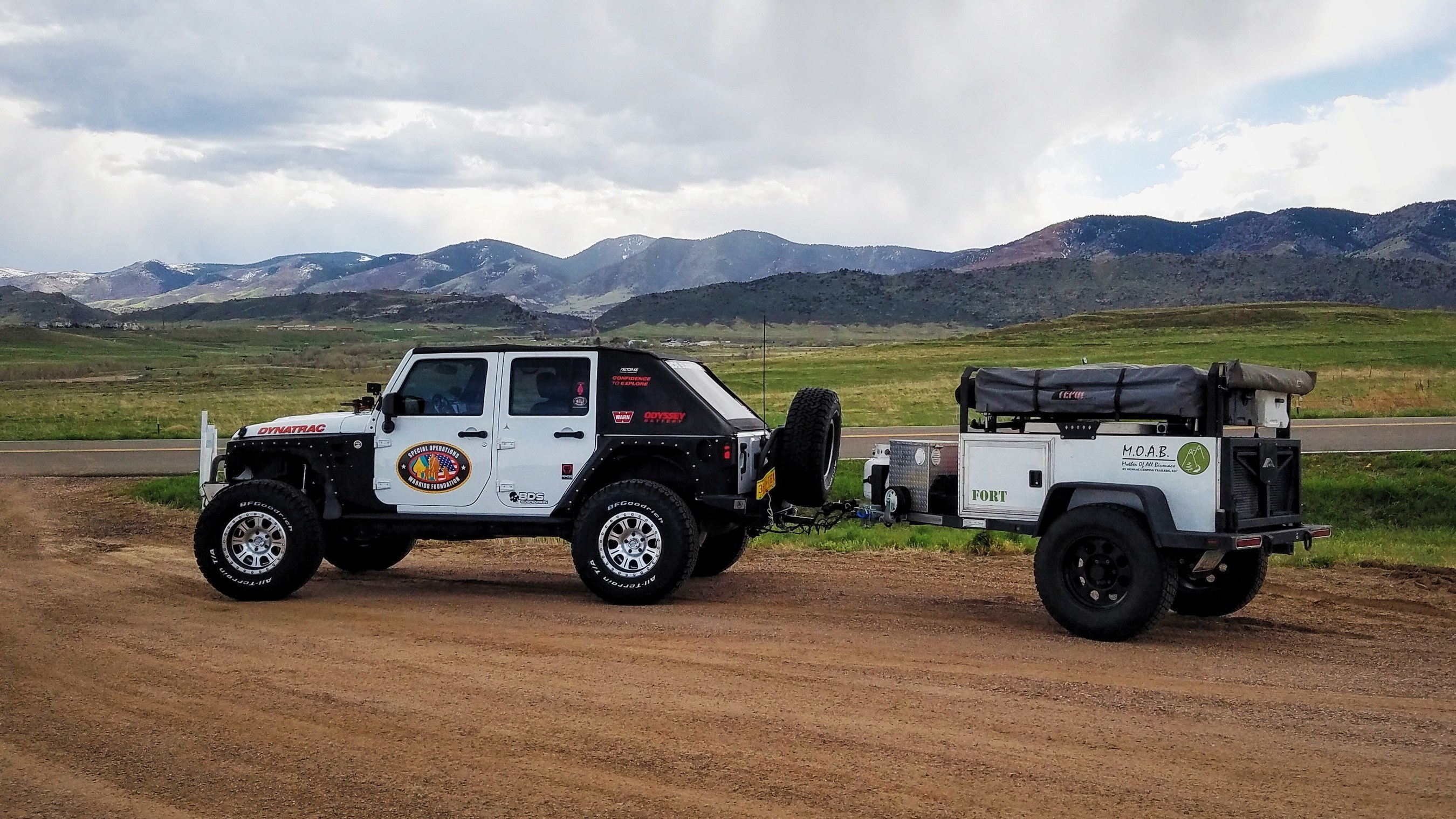 The Warrior Jeep Team was formed in 2015 around support for Special Operations U.S. troops who were wounded or died in combat, with the purpose of raising awareness and generating support for these veterans and their families who often do not receive government benefits.