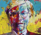 Top of the Pop exhibition: Andy Warhol portrait by VOKA (Acrylic on Canvas 180x220cm) (PRNewsFoto/The House of Fine Art)