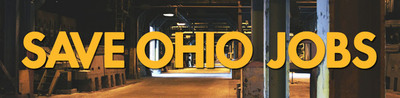 Save Ohio Jobs.  (PRNewsFoto/United Steelworkers (USW))