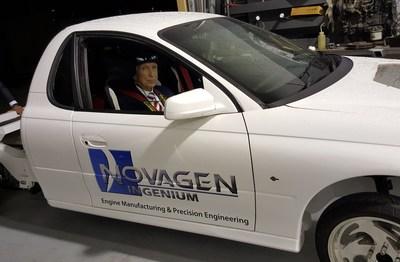 Dr. Jon N Leonard driving Geoffrey 2