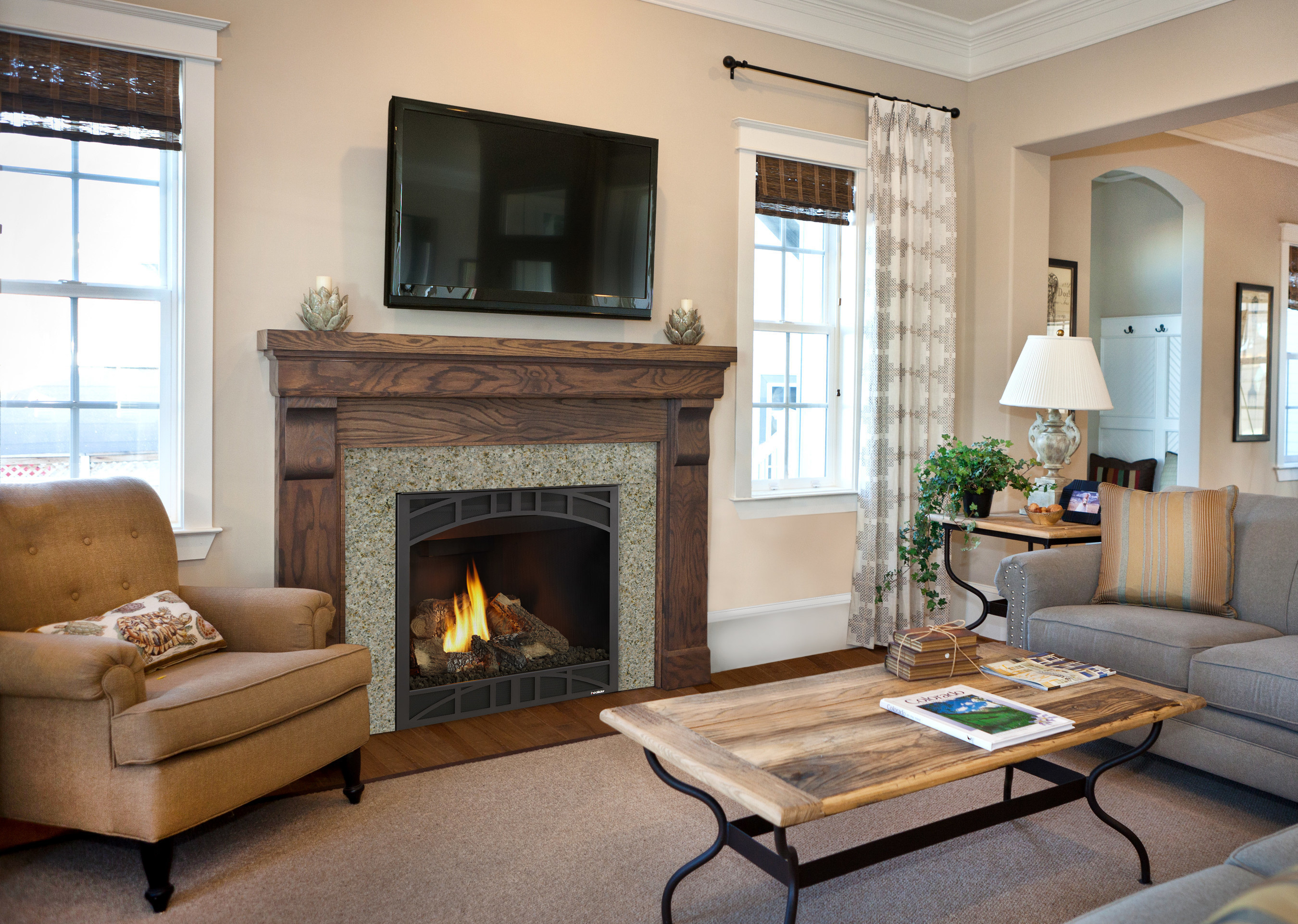 The best-selling fireplace for more than two decades, the Heatilator Novus is incredibly versatile, with excellent venting capabilities, and easy to install anywhere.