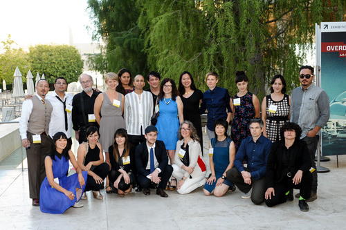 The 2013 California Community Foundation Fellowship for Visual Artists recipients at a reception at The Getty ...
