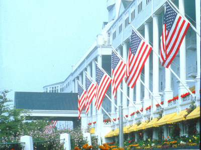 Michigan's iconic Grand Hotel on Mackinac Island celebrates 125 years. The 385-room national historic landmark, which first opened its doors July 10, 1887, is renowned for its white-glove service and historic charm, in part due to its location on an island with no motorized vehicles. The hotel's award-winning ambiance is also credited to the Musser Family, which has owned and operated Grand Hotel for 79 years.