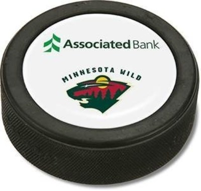 70 specially marked, co-branded hockey pucks will be hidden as part of Associated Bank's Puck Drop in Minnesota and Wisconsin border areas.