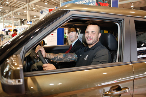 Kia Motors America Partners with Wounded Warrior Project to Donate 2012 Kia Soul to Disabled Veteran Army Corporal Christopher Melendez of New York City.  (PRNewsFoto/Kia Motors America)