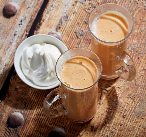 Real California Milk Sweetpotato Latte.  (PRNewsFoto/California Milk Advisory Board)