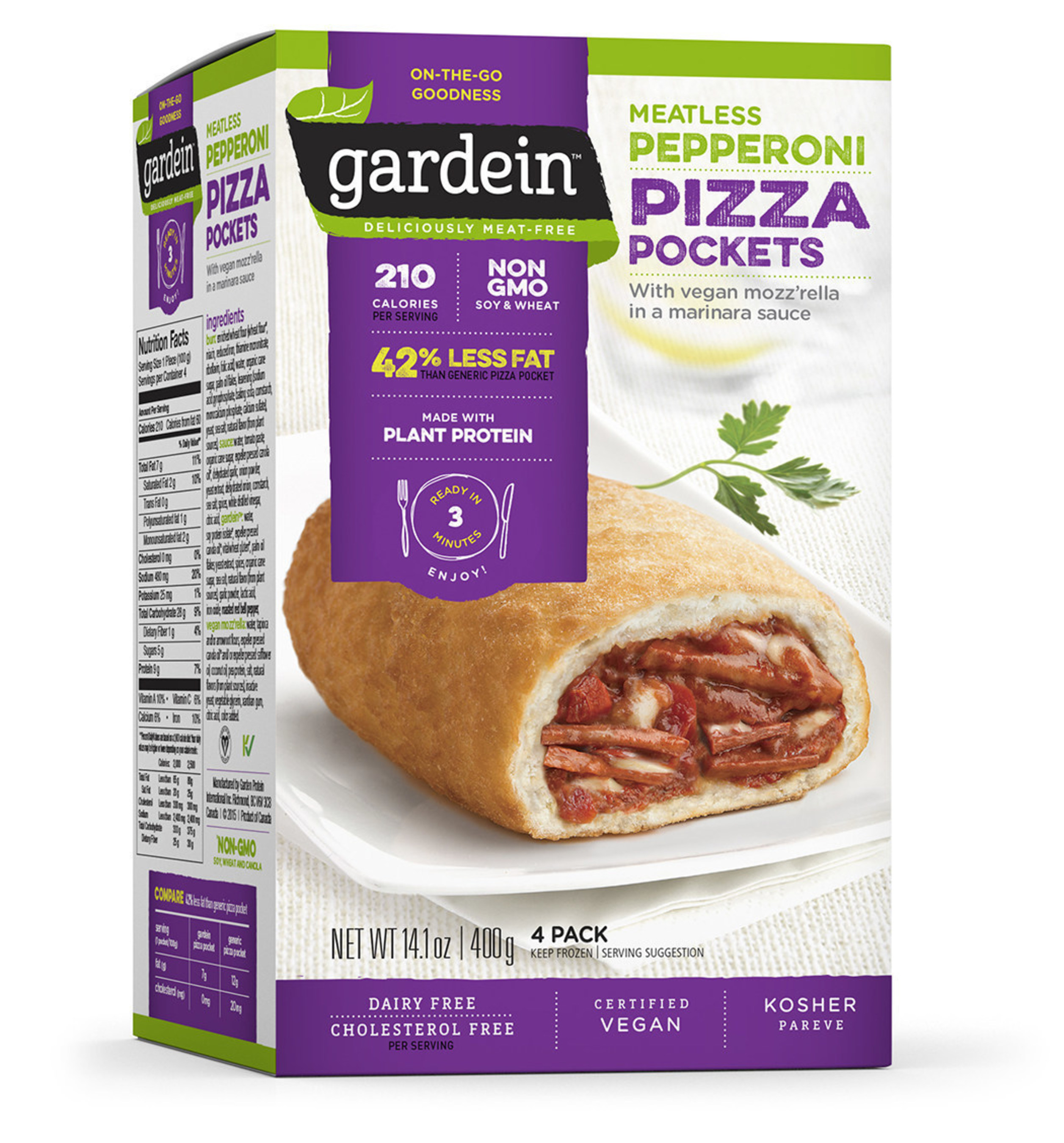 Gardein™ Launches New Meatless Pepperoni Pizza Pockets