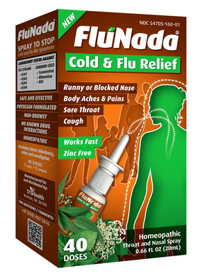 FluNada Homeopathic Throat & Nasal Spray.  (PRNewsFoto/STS Health)