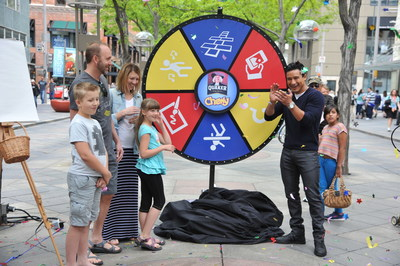 Mario Lopez teams up with Quaker Chewy to celebrate Denver - America's Most Playful City for Families - and surprises residents with fun games to show America just how playful the city really is. Denver, May 17, 2015