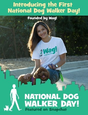 September 8 is the first annual National Dog Walker Appreciation Day, founded by Wag!, the on-demand dog walking app.