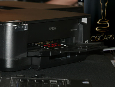 Epson WorkForce Chosen as Official Printer for Oscar Credentials at the 85th Annual Academy Awards.  (PRNewsFoto/Epson)