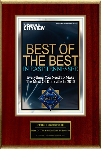 "Frank's Barbershop Selected For ""Best Of The Best In East Tennessee"".  (PRNewsFoto/Frank's Barbershop)"