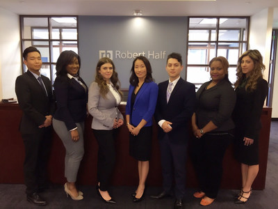 January 27, 2016- Account Executive James Kim; Senior Legal Recruiter Didi Gooch; Account Executive Ashley Clinkenbeard; Metro Market Manager SunMi Kim; Michael Naranjo; Senior Legal Recruiter Jennifer Cotton; Account Executive Ani Karian will form the Robert Half Legal team in the newly launched offices in Irvine, CA. Photo credit: Robert Half