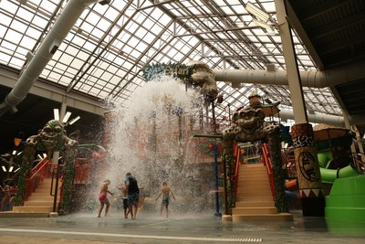 Splashdown Safari, an attraction at Pennsylvania's Largest Indoor Waterpark, Kalahari Resorts and Conventions in the Pocono Mountains, features net crawls, water guns, a variety of slides and multiple levels of interactive fun. For more information, visit www.KalahariResorts.com.
