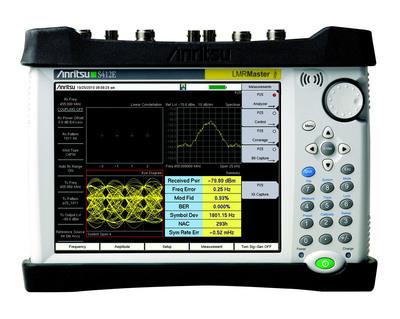 Anritsu Company has enhanced its LMR Master S412E handheld analyzer.  (PRNewsFoto/Anritsu Company)