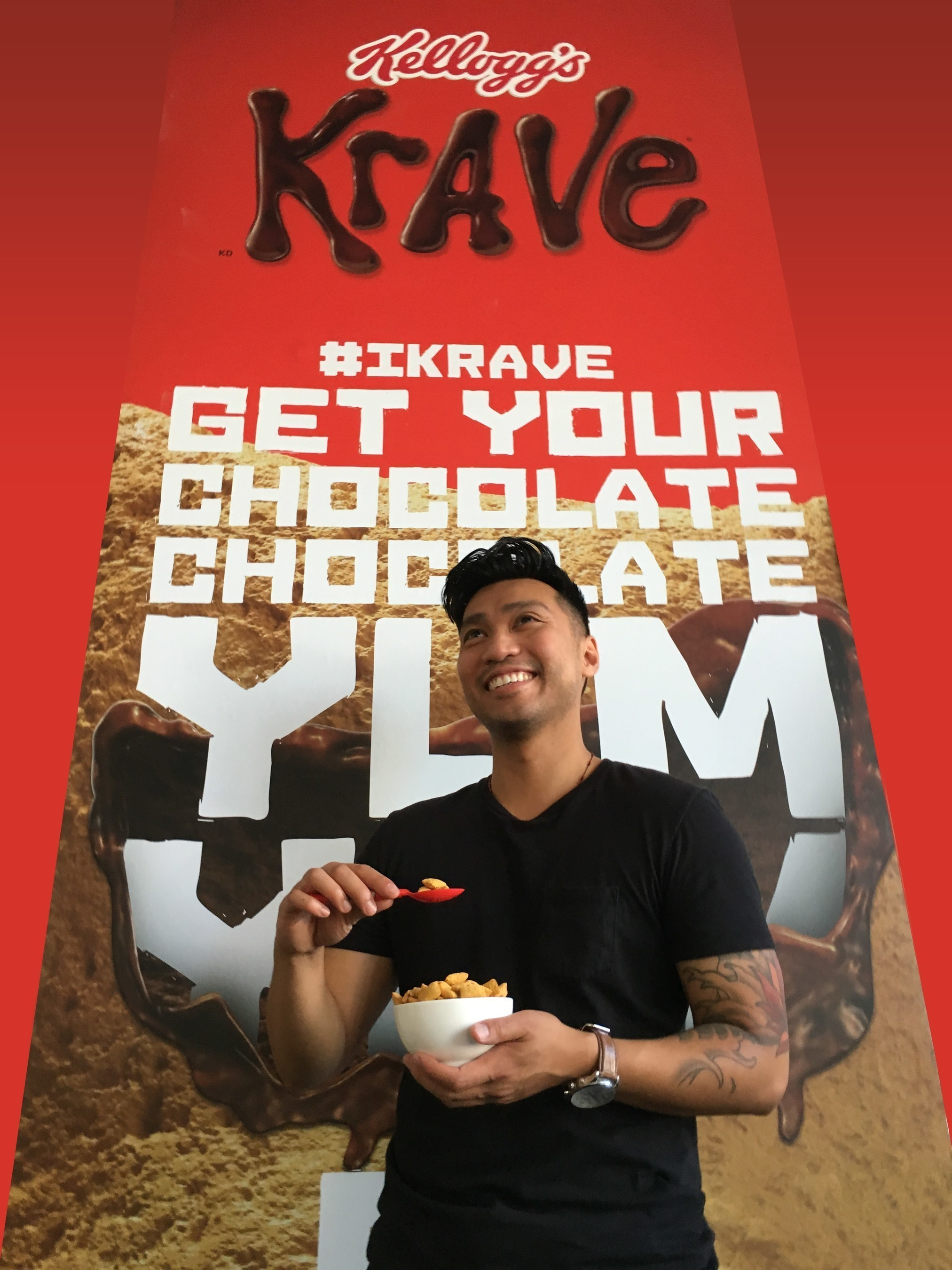 Kellogg's Krave' Cereal To Unveil 'Chocofitti' Wall At Nerd HQ's Krave Kafeteria