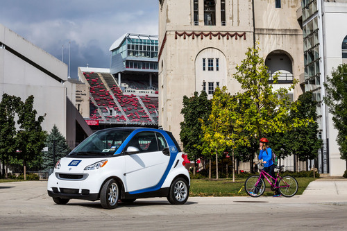 car2go Expands to The Ohio State University Campus.  (PRNewsFoto/car2go North America LLC)