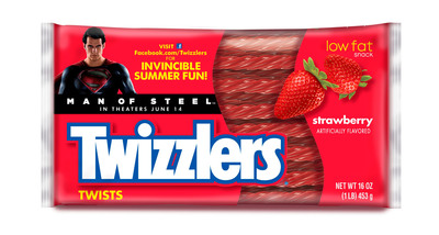 Twizzlers® candy has teamed up with Warner Bros. and its expected summer blockbuster, Man of Steel™, to help fans become Super Heroes this summer.