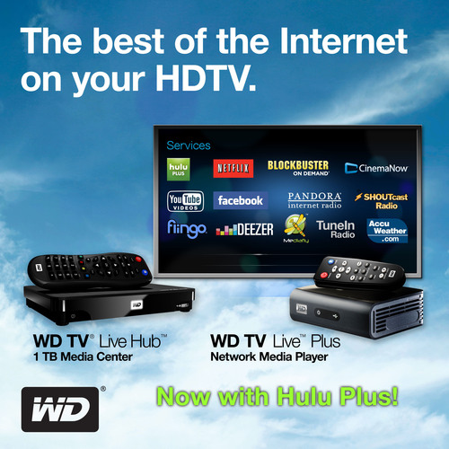 WD® Brings Current-Season On-Demand TV and Acclaimed Movies to Its WD TV® Media Player Family With