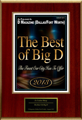 "J's Tailor & Cleaners Selected For ""The Best Of Big D"""