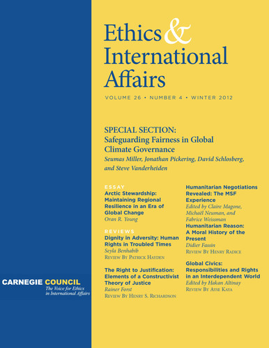 'Ethics & International Affairs' Winter Issue, with Selected Articles Available Online for Free