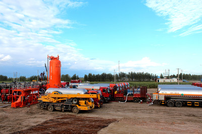 Jereh Operated China's Largest CO2 Fracturing Operation in Jilin, China