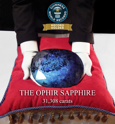 Guinness World Records - The Ophir Sapphire - Largest Faceted Sapphire (PRNewsFoto/Ophir Collection, LLC)