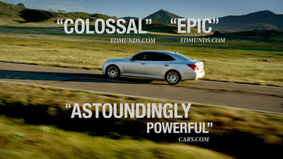 "On Hollywood's biggest night, Hyundai takes center stage for the fifth consecutive year as the exclusive automotive sponsor of the Oscars broadcast. One of three new spots to air, ""Equus the Trailer"" (pictured) mimics an action movie trailer, featuring Hyundai's premium luxury sedan Equus as the main character and the film's hero. (PRNewsFoto/Hyundai Motor America) (PRNewsFoto/HYUNDAI MOTOR AMERICA)"