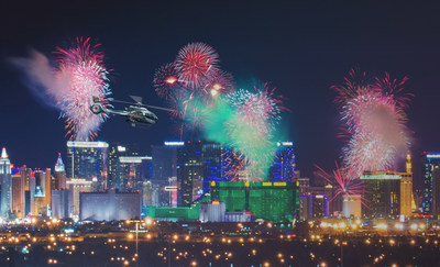 Sundance Helicopters, Inc., in Las Vegas, will be the only tour operator to fly over the Las Vegas Strip on New Year's Eve during the fireworks show countdown to 2017. Only 72 seats are available for $339 per person.