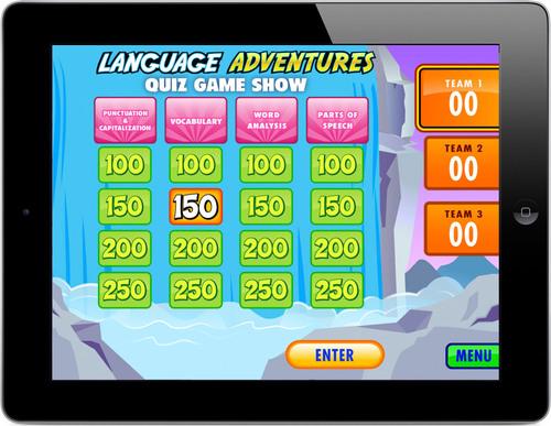Language Adventures Quiz Game Show for grades 4 - 6.  (PRNewsFoto/Lakeshore Learning Materials)