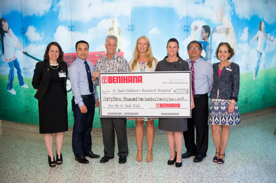 "Benihana Inc. presented St. Jude Children's Research Hospital(R) with a donation of more than $33,000 on May 27. The contribution was made possible through funds raised by the 2015 ""Children Helping Children"" coloring contest, part of the Children's Day program that culminated May 5."