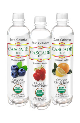 Cascade Ice is thrilled to announce that its line of USDA-certified Organic sparkling flavored waters are now available in over 400 Target stores nationwide. Consumers can purchase popular Cascade Ice flavors like Organic Mixed Blueberry, Organic Mixed Berry and Organic Citrus Twist at select Target locations.