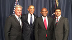 (Left to Right) Jonathan Ortmans, President, Global Entrepreneurship Network (GEN); Barack Obama, U.S. President; Tony Elumelu, Founder of Tony Elemelu Foundation (TEF); Sriram Bharatam, Chairman, Africa Growth Initiative, Entrepreneurs' Organization (EO).