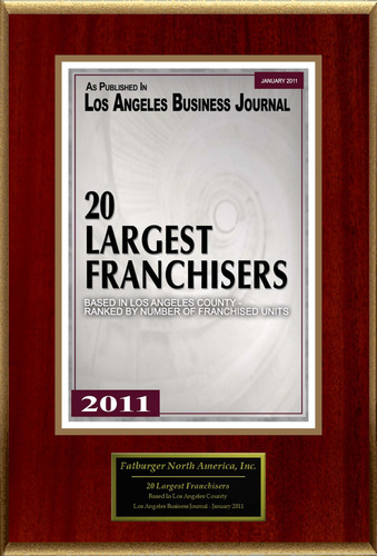 Fatburger North America, Inc. Selected For '20 Largest Franchisers'