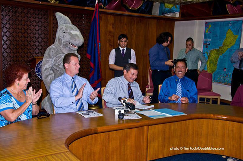 Guam Moves to Protect Sharks  - Governor Calvo Signs Shark Fin Ban Into Law in Guam