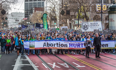 Tens of thousands trekked through downtown San Francisco at the 12th Annual Walk for Life West Coast Jan. 23. Credit: Dennis Callahan, Catholic San Francisco