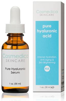1oz bottle of Hyaluronic Acid Serum.  (PRNewsFoto/Cosmedica Skincare)