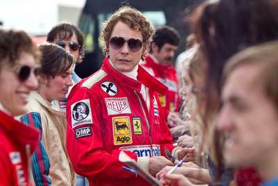 Carrera teams up with RUSH, on two-time Academy Award(R) winner Ron Howard's spectacular big-screen re-creation of the merciless 1970s rivalry between James Hunt and Niki Lauda.  (PRNewsFoto/Safilo Group)