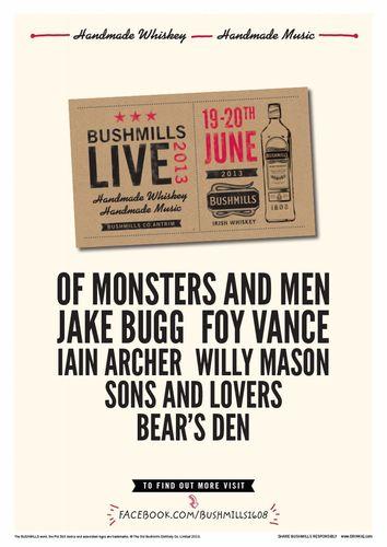 Jake Bugg wird bei Bushmills Live 2013 spielen