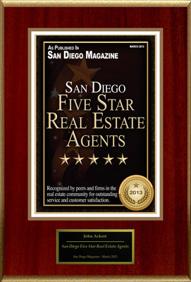 "John Ackert Selected For ""San Diego Five Star Real Estate Agents"".  (PRNewsFoto/American Registry)"
