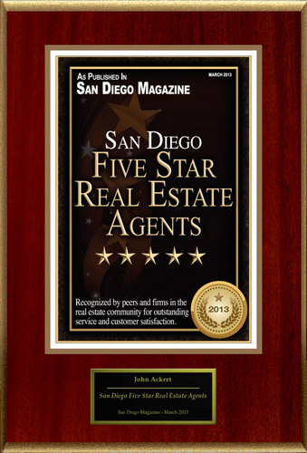 John Ackert Selected For 'San Diego Five Star Real Estate Agents'