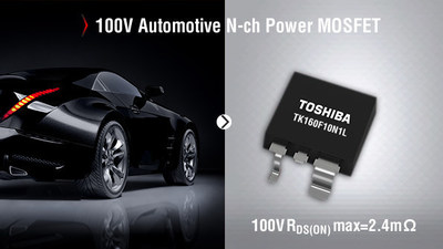 Toshiba's new automotive N-ch power MOSFET features ultra-low ON resistance, low voltage drive for increased power efficiencies.
