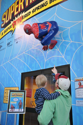 Your friendly neighborhood Spider-Man is hanging out at The Children's Museum of Indianapolis.