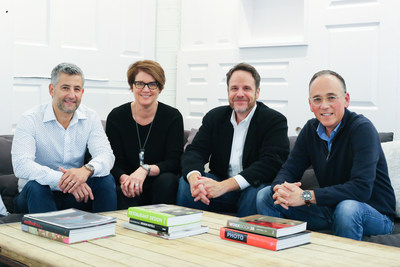 Delucchi Plus Joins Streetsense. (left to right) Guy Silverman, Co-CEO and Vice Chairman, Streetsense; Christine Delucchi, CEO and President, Delucchi Plus; Brian Taff, President, Streetsense; Marc Ratner, Chairman and Co-CEO, Streetsense.