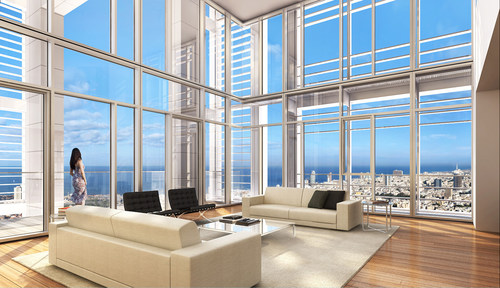 """Palace in the sky"" penthouse, chosen as the most luxuries penthouse in Israel (PRNewsFoto/Berggruen Residential)"
