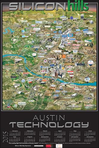 Silicon Hills Map of Austin Texas (PRNewsFoto/Silicon Maps, Inc.)